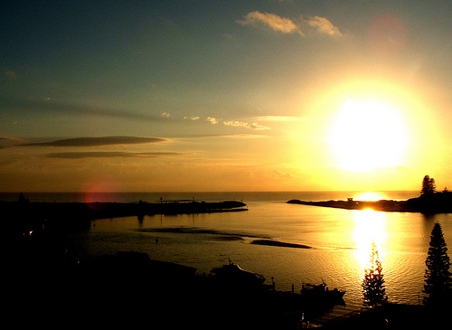 Sunrise over Forster