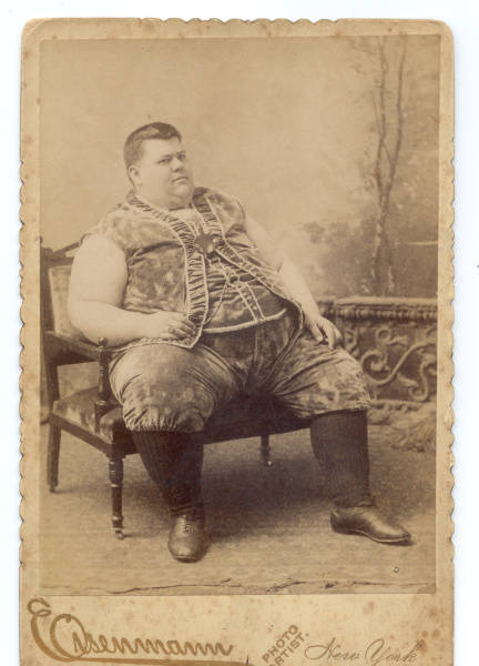Chauncy Morlan, freakishly fat guy, circa 1890